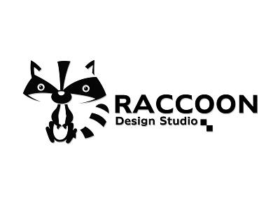 Raccoon raccoon negativespace illustrator flat vector typography logo minimal illustration design branding