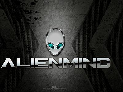 ALIENMIND metal texture alien illustrator vector typography design illustration branding