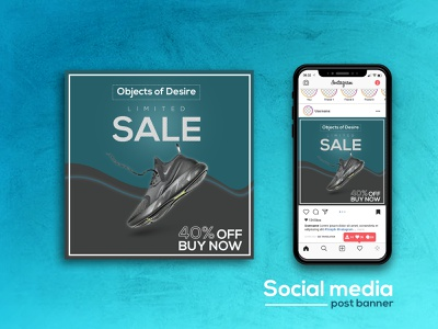 banner for facebook and instagram ad social media post add photoshop illustrator cc graphic design