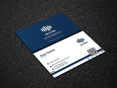 Cloud Secure02 card design simple minimal business card design photoshop design graphic design
