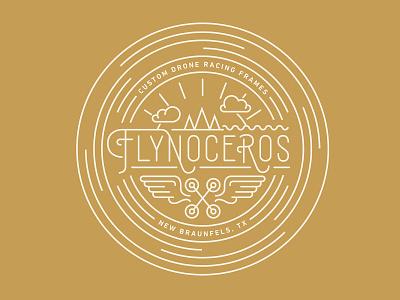 Flynoceros Drone Racing Apparel drone racing drones graphic design typography apparel design vector illustration