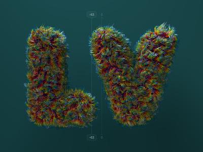 Kerning pairs for designers – LV 36 days of type kerning cinema 4d c4d alphabet letters 3d type illustration