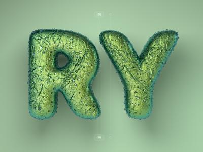 Kerning pairs for designers – RY cinema 4d c4d 3d 36 days of type alphabet letters type kerning illustration