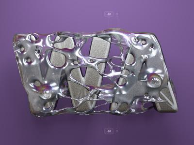 Kerning pairs for designers – WA cinema 4d c4d 3d alphabet 36 days of type kerning letters type illustration