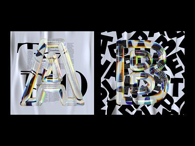 Alphabet Dispersion – A,B cinema 4d c4d 36 days of type letter typography 3d type dispersion alphabet