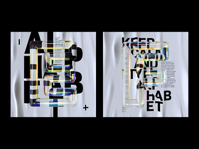 Alphabet Dispersion – EF cinema 4d c4d dispersion typography 36 days of type 3d type alphabet letters