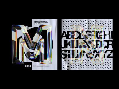 Alphabet Dispersion – M,N cinema 4d c4d 36 days of type typography letters 3d type glass dispersion alphabet