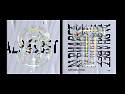 Alphabet Dispersion – S,T cinema 4d c4d 36 days of type letters typography 3d type glass dispersion alphabet