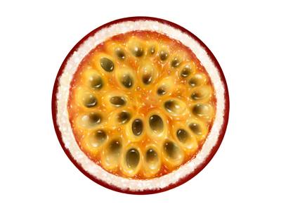 Baltica • Illustrations for advert • Passion fruit passion fruit fruit branding food illustration digital painting digital illustration drawing