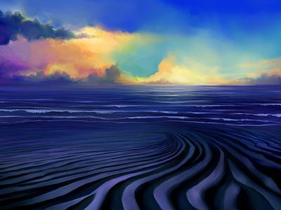 Baltica • Illustrations for advert • Sunset clouds beach sunset sky food illustration digital painting digital illustration drawing