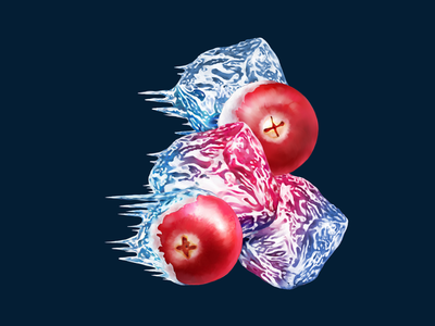 Stimorol • Cranberry Ice • Illustration for packaging