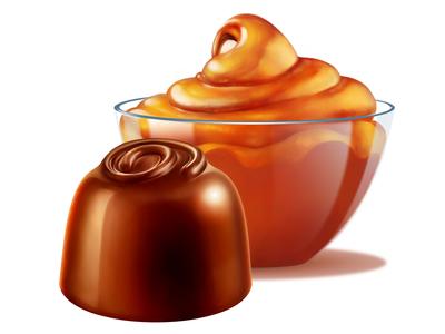 Cadbury • Caramel • Illustrations for packaging