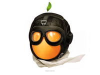 Aviator Apricot • Series of avatars for colleagues