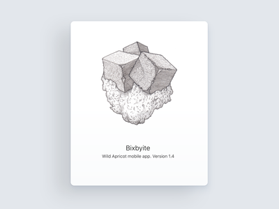 Bixbyite about ink lineart dotwork crystal bixbyte illustration