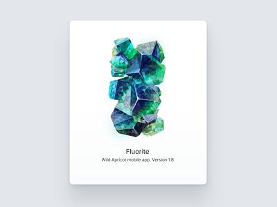 Fluorite poligon fluorite crystal illustration