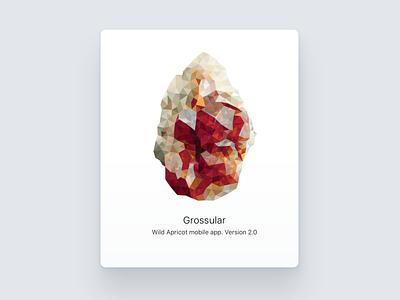 Grossular grossular poligon crystal illustration