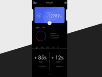 Crypto Wallet mobile app ui design