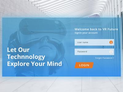 VR Future Login Page