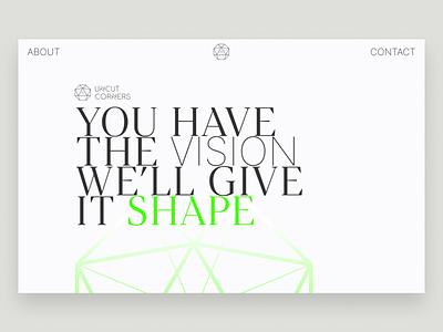 Shaping new Studio website landing page flat web clean ux design webdesign ui