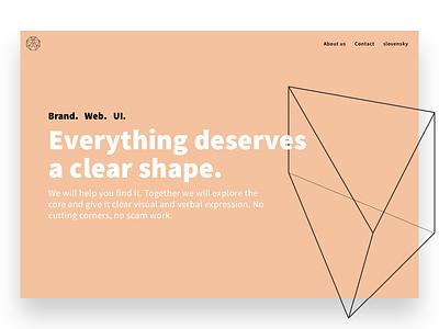 Our new Uncut Corners site bratislava slovakia ux ui web brand clear shape minimal webdesign