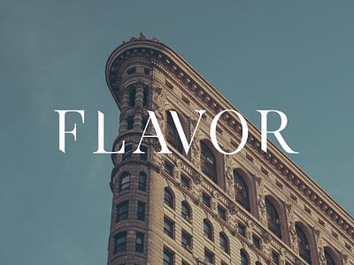Flavor logo branding typography logo clean