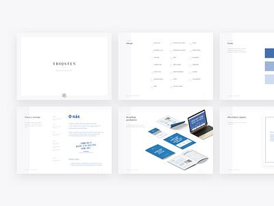 Trojsten Design Manual clean design manual branding trojsten