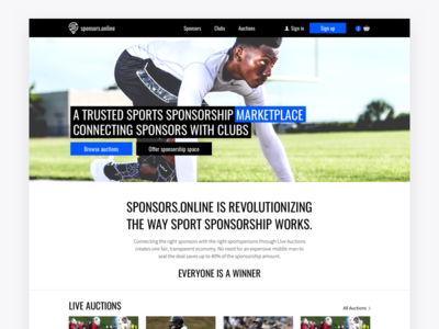 Sports Marketplace Redesign auctions platform sport clean marketplace redesign rethink ui ux