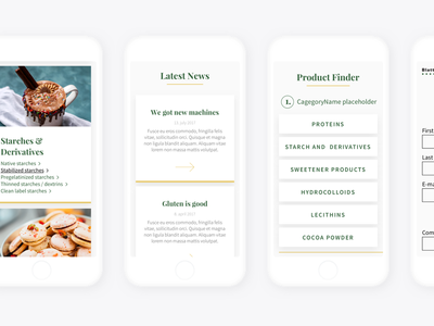 Mobile Screens Of New Corporate Website food bakery website corporate ui mobile mockup iphone responsive