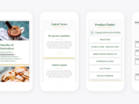 Mobile Screens Of New Corporate Website