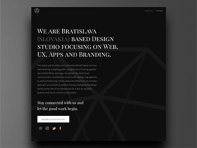 Uncut Corners new website about studio portfolio ux ui black dark web