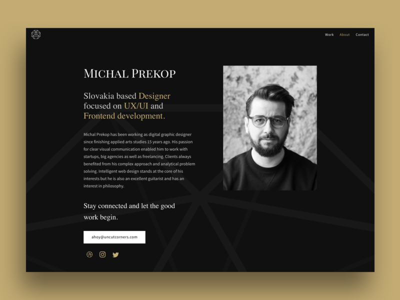 Freelancer About Page about me about us about page about portfolio sketch app sketch semplice wordpres front-end developer front-end front end dev front end branding clean ux ui design freelancer webdesign