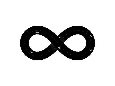 Infinite Race rebound black white