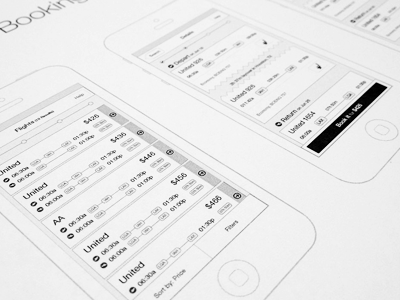 iPhone App Wireframe iphone app ios wireframe ui ux design travel interface application apple workflow