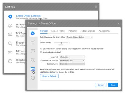 Settings Panel UI Design