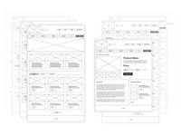 E-Commerce UX Wireframes Design