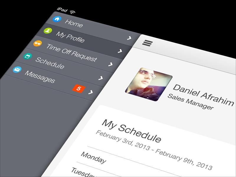 iOS Menu UI/UX Design ipad product design ios menu design ui ios design ux design ui design app design ux daniel afrahim