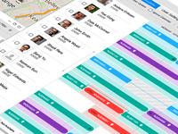 Gantt Chart UI Design