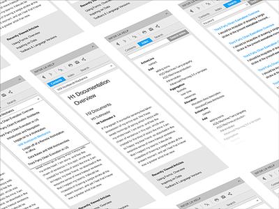 Help Menu Widget Windows OS mobile menu widget windows os ui windows 8 ux ios design interface responsive