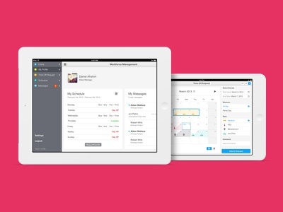 Human Resource Management iOS App ios app app design calendar ios app ipad dashboard design android responsive clean ui daniel afrahim