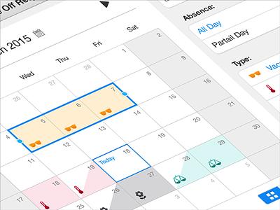 iOS Calendar App / Human Resource Management  ux design month view calendar ios app management dashboard app design ux ui design daniel afrahim