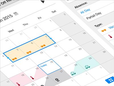 iOS Calendar App / Human Resource Management