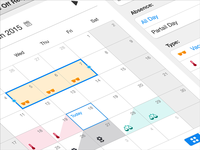 iOS Calendar App / Human Resource Management
