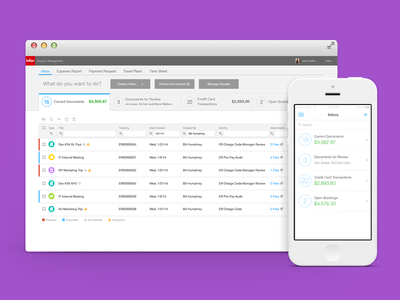 Travel and Expense Report Management Software UI/UX Design