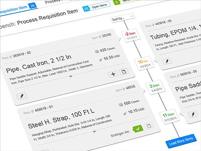 Timeline UX Design - Manufacturing App timeline ux design app design ux design tiles visual design ui design daniel afrahim clean concept responsive