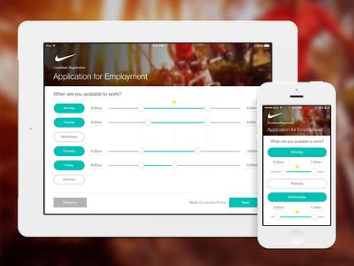 Work Schedule - Time Sheet - iOS App android design time sheet mobile design ux design ui design web design design responsive daniel afrahim ios design app design schedule