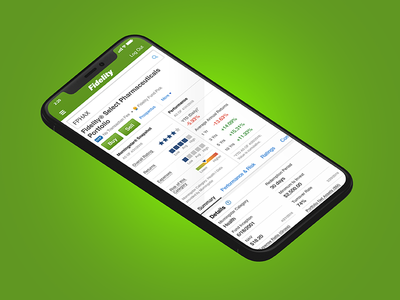 Mutual Funds Research Page ios 11 iphone ios mutual funds mobile design responsive design ui design ux design visual design iphone x iphonex
