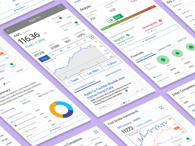Mobile Trading App - Wireframes wireframes trade mobile trading mobile design responsive design web design ui design ux design visual design iphone x iphonex