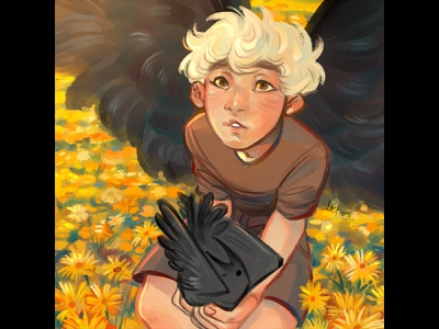 Ravens originalcharater new draw sunshine nature flowers color sai illustraion character didgital artist art ravens hi