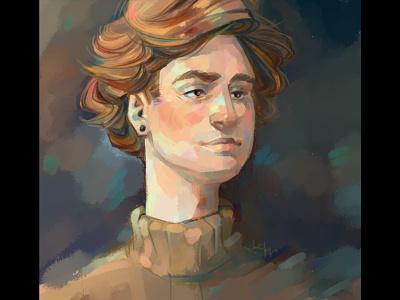Portrait guy color boy portrait experiment didgitalart artwork illustraion draw didgital character artist art