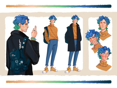 Student (character concept) emotions student artwork color concept characterdesign palette guy design didgitalart illustraion art didgital character